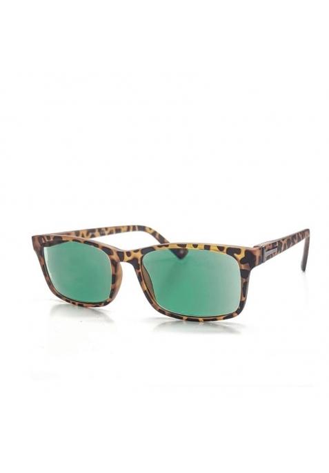 lunettes loupe de lecture teintées marron écaille et verres teinte verte