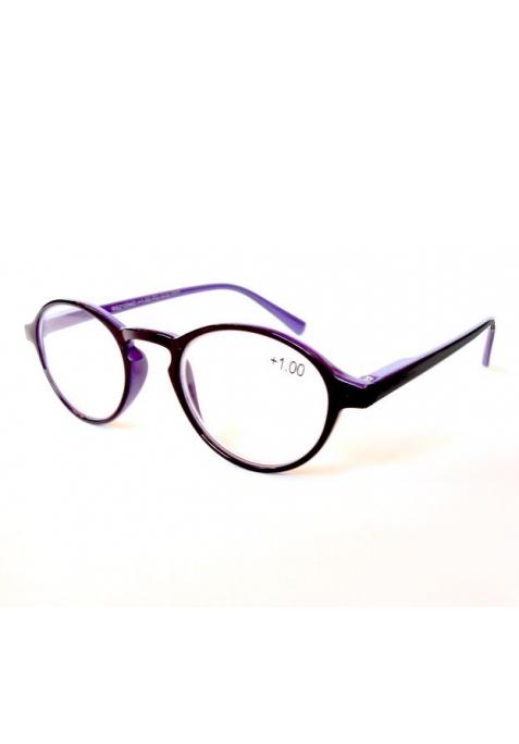 Lunettes loupe de lecture - noir brillant intérieur violet
