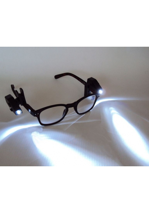 1 mini lampe led universelle pour lunettes de lecture et. Black Bedroom Furniture Sets. Home Design Ideas