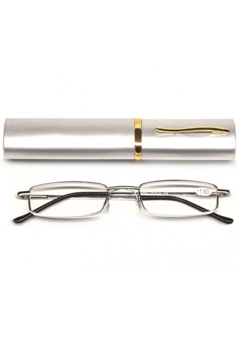 lunettes loupe monture argentée