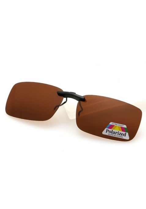 Clip solaire polarisé couleur marron
