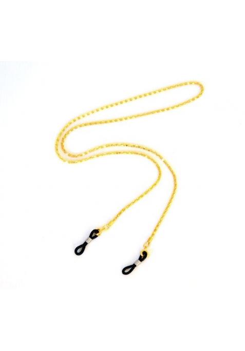 chaine dorée pour lunettes